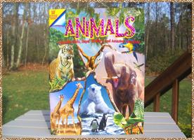 Click here for a larger picture of the front & inside of the Animal book