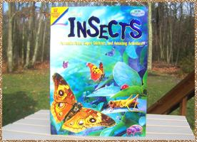 Click here for a larger picture of the front & inside of the Insect book